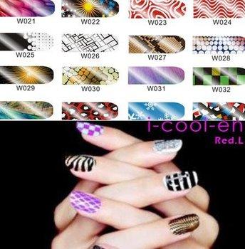 NEWEST 600+ styles,16pcs/set Nail patch Minx sticker Metallic Nail Patch FoilNail Art Wraps Sticker Applique Decoration