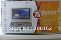 Guaranteed 100% + Wholesale and retail +7.8 Inch LCD Widescreen Portable DVD Player with Copy Function
