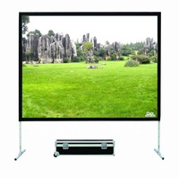 """150"""" Front Fabric portable fast fold screen with flightcase free shipping"""