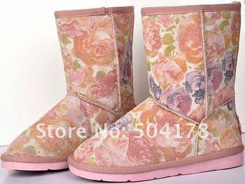 Snow Boots Genuine Sheepskin Boot wool 100% inside