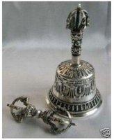 Tibet rare silver bell Buddha 100% free shipping