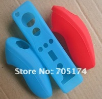 10set/Lot Silicone protection Case for wii Remote + Nunchuck
