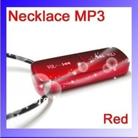 Free shipping, Wholesale and Retail 4GB Necklace MP3 Touch MP3 smallest pendant MP3 player, MP3