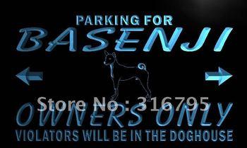 n121-b Basenji Owner Parking Only Neon Light Sign