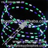10pcs/lot 3CSD30-PuWG Purple-White-Green 5mm Through hol eFlashing LED