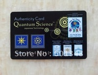 Free shipping!10pcs/lot&new model!~Energy quantum scalar energy card &Resist radiation&black