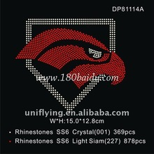 garment hot fix motif with high quality,Rhinestone logos,complex or easy logos are acceptable.customer's designs welcome.(China (Mainland))