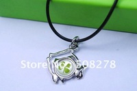 Horoscope Pisces necklace lucky clover necklace 2012 real four leaf clover necklace free shipping+hot sale