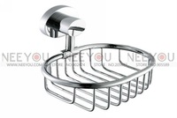 Chrome-Plated Brass Bathroom Soap Dish Holder Soap Rack 13708A