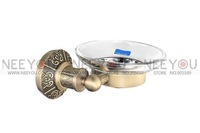 Bronze-Plated Brass Bathroom Soap Dishes Holder Soap Rack With Patterns 13607