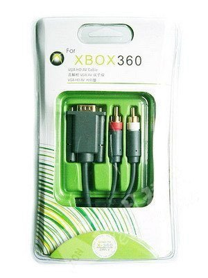 1.8M/6FT VGA HD AV Cable For XBOX360 with Blister Packing ,Free shipping(China (Mainland))