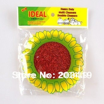 sunflower kitchen cleaning ball dinnerware cleaner soft for all cleaning non-rust plastic scourer wholesale retail