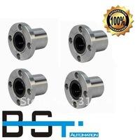 Free shipping for 4pcs LMF10UU Flange Linear Motion Bearing / Flange Linear Bush for 10mm Linear round shaft rail