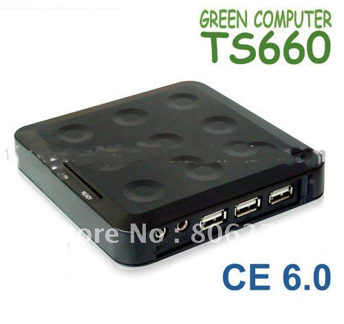 EMS  shipping 10pcs/lot TS660 Network Terminal Thin Client Net Computer PC Station with Win CE 6.0 Embedded Support Winows 7