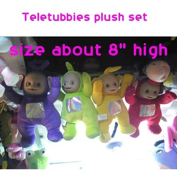 "freeshipping Teletubbies  8"" plush doll toys set (2set lot)b1364"
