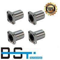 Free shipping for 4pcs LMK10UU Flange Linear Motion Bearing / Flange Linear Bush for 10mm Linear round shaft rail