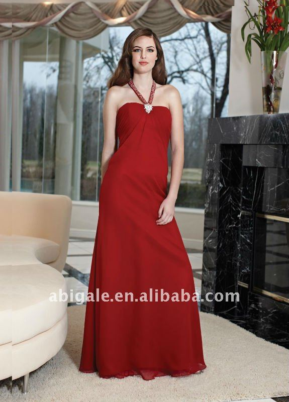Halter A-line Chiffon Bridesmaid Dress Online(NS50135)(China (Mainland))