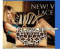 VS GOLD leopard satin print Tote/Purse HANDBAG VS049 ( FREE SHIPPING)hotsales!