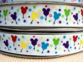 50Y14594 david ribbon 7/8 '' mickey minnie colorful balloons grosgrain ribbon hairbows printed ribbon freeshipping