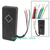 Waterproof Security Door Access Control Wiegand 26 RFID ID Card Reader Black 125KHz ISO EM4100 and compatible