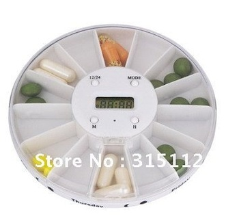New arrival Portable Multi-function Pillbox with LCD Timer hot selling