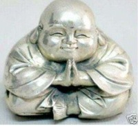 Statue of Buddha from Tibet silver laugh 100% free shipping