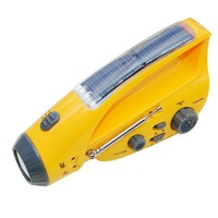 Multifunction Solar flashlight +radio AM/FM++Mobile phone charger Dynamo and solar powered 24pcs/lot Free shipping