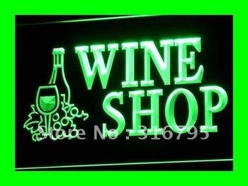 i091-g OPEN Wine Shop Bar Pub Club NR Neon Light Signs