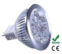 Free Shipping High Power MR16 12V 4w led spot light warm white/day white lamp bulb 1pcs/lot