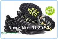 free ship fashion shoes black silver striped TN MEN SPORTS RUNNING SHOES