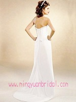 Cheap A Line White Strapless Beading Wedding Dress 2011