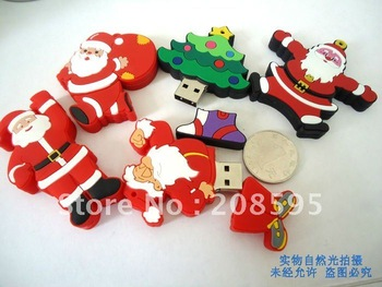 Promotional thumb  drive usb ,Christmas gifts usb flash memory.free shipping,free gift box,high quality