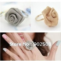 Fashion Ring,resizable,Wire mesh cute rose fashion ring,Alloy ring +free shipping