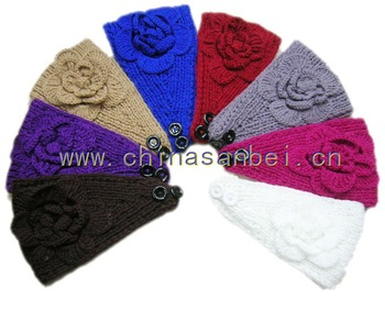 King size Handmade Headbands Crochet Flower headwrap 50pcs mix color
