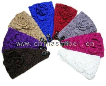 King size Handmade Headbands Crochet Flower headwrap 50pcs mix color