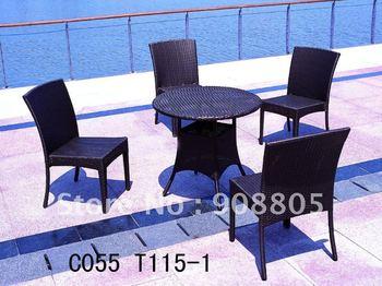 poolside PE rattan outdoor chair set