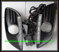 Professional 10w Cree Taiwan LED Daytime Running Light/LED DRL For FORD FOCUS SEDAN With Foglight Cup Free HKPAM