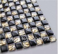 Bathroom Black Glass Mosaic tiles!