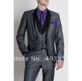 Designer Wedding Suit 2011 Fashion Dinner Jacket Tuxedo Custom Made Suit Grey Suit Free Shipping  277