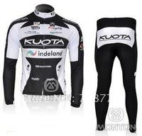 Fast Shipping 2010 Hot Selling Long Sleeve Cycling Jerseys and Pants Set/Cycling Wear/Bikling Clothing/Jersey/Kuota Cycling Gea
