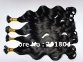 wholesale 100% body wave brazilian virgin hair extension, i-tip stick extension  18&quot;