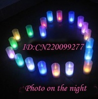DHL Free Shipping wholesale LED Magic Color Change Sensor flicker Candle Light#147 180pcs/lot