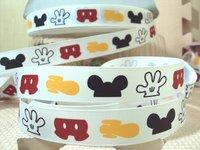 david ribbon 7/8 '' mickey space  grosgrain ribbon hairbows printed ribbon freeshipping