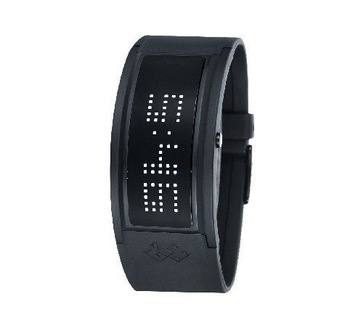 new arrival 125 LED ligth LED watches, fashion Matrix LED watches, white box packed tin box