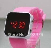 fashion led watch, red light led light watch, 50pcs/lot free shipping