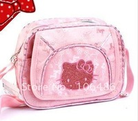 Wholesale Free shipping 20pcs/lot Hello kitty bags /Hello Kitty Recreation bag  Inclined shoulder bag