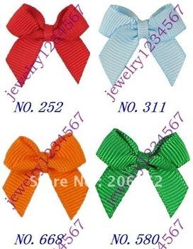 "Free Shipping Boutique 1000pcs 2.5"" multicolored grosgrain dot ribbon bows fashion gift cute baby hair accessaries"