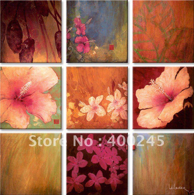 Tropische Bloemen Kopen Olieverf Set Bloemen Schilderen Met Olieverf 9pc x 12 Quot X12 Quot Tropische Neg