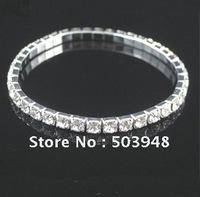 fashion jewlery stretch single string claw rhinestone crystal bracelet