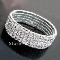 fashion popular stretch 5ROWS rhinestone crystal bracelet